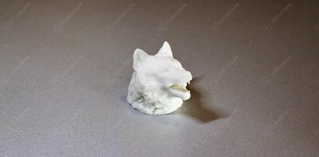 Голова волка, материал: гипс