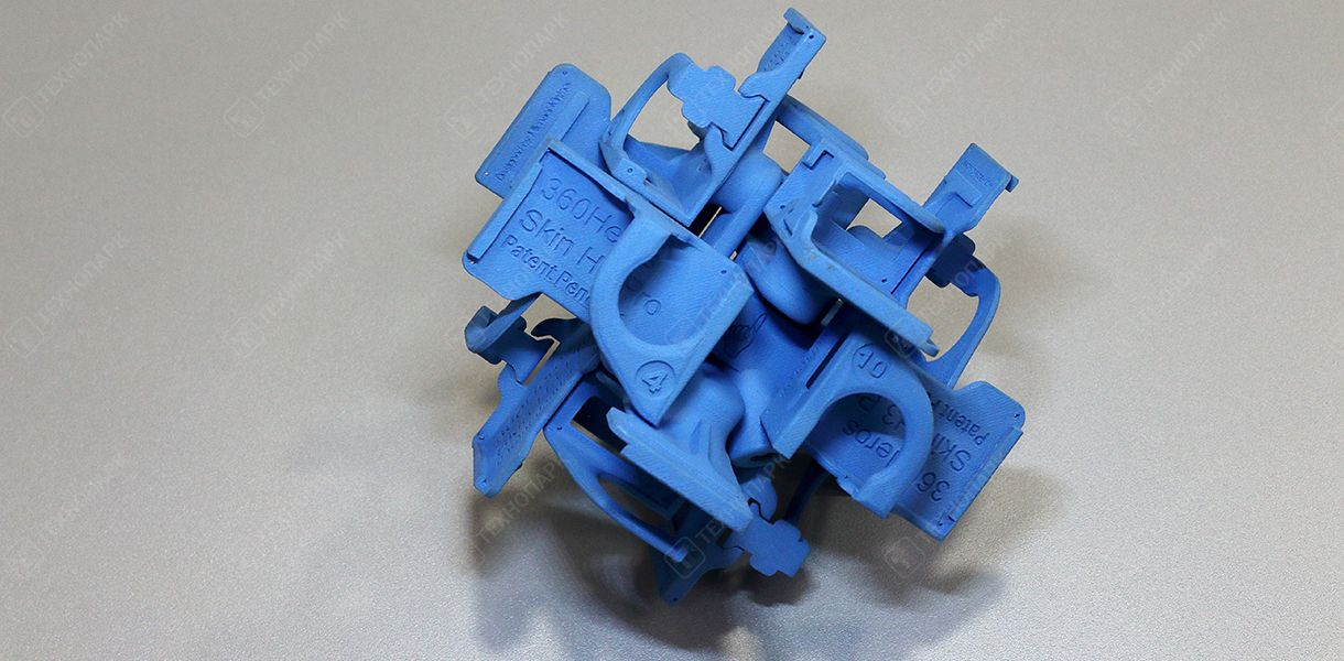 Держатель камеры для квадракоптера. Материал: синий PLA-пластик.